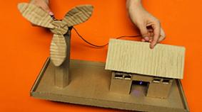 Casa molino de viento