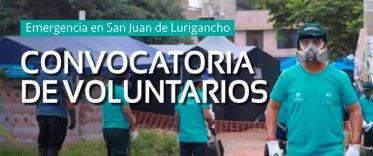 Convocatoria de Voluntarios San Juan de Lurigancho