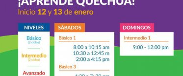 Cursos de quechua. Verano 2019