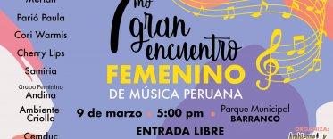 7mo Encuentro Femenino de Música Peruana