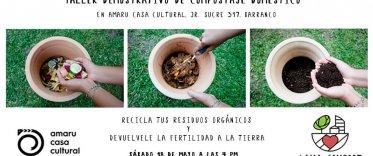 Taller demostrativo de compostaje doméstico