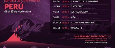 Semana de Cine Andino en la Sala Armado Robles Godoy
