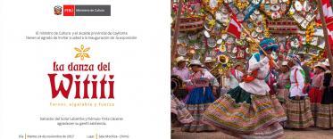 Inauguración exposición la danza del wititi del Valle del Colca