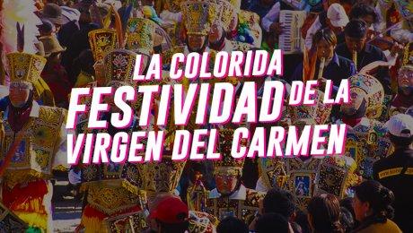 La colorida festividad de la Virgen del Carmen