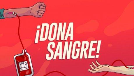 ¡De ti depende salvar una vida, dona sangre!