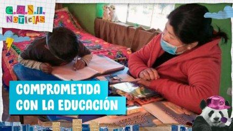 Eliana Mamani, la profesora que viaja más de 60 kilómetros para dar clases