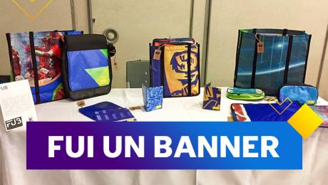 Esta empresa social recicla banners para convertirlos en bolsos y mochilas