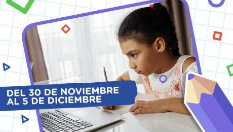 Aprendo en casa: esta es la programación del 30 de noviembre al 5 de diciembre