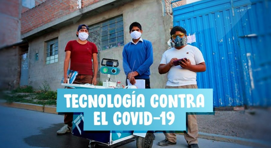 Chicos ayacuchanos fabricaron un robot para atender a pacientes con coronavirus