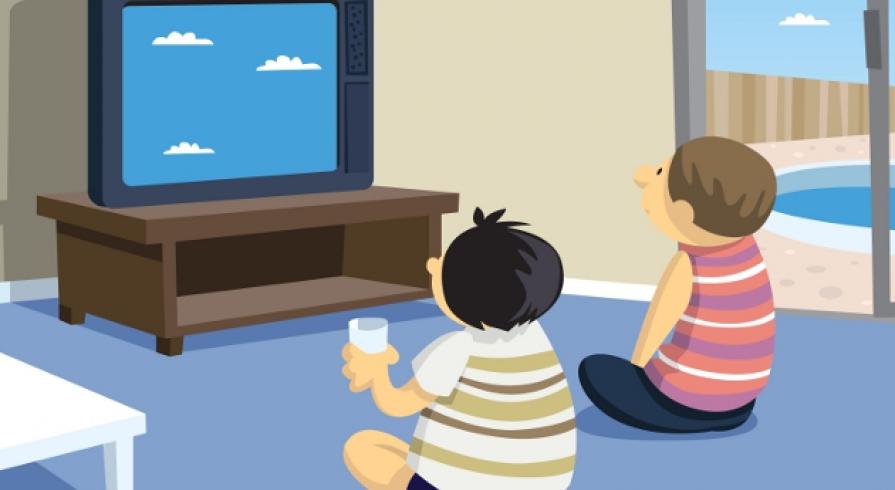 No m s mitos una buena forma de ver televisi n en chicos for Sillas para ver television