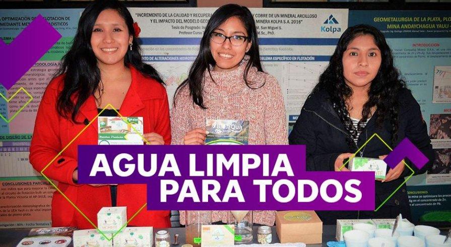 Estas universitarias peruanas descubrieron cómo purificar el agua turbia con moringa