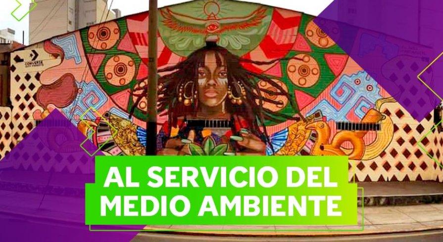 'Ofrenda', el mural que purifica el aire en Lima