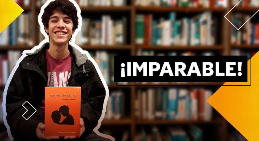 Santiago Mena, el joven escritor de poemas y cuentos