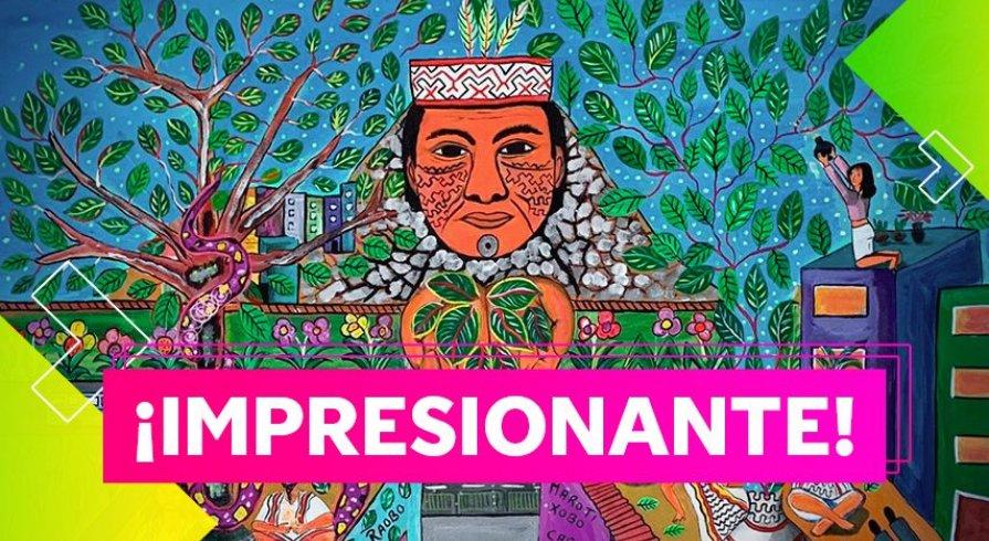 Artista amazónico retrata su visión del coronavirus en cuadros