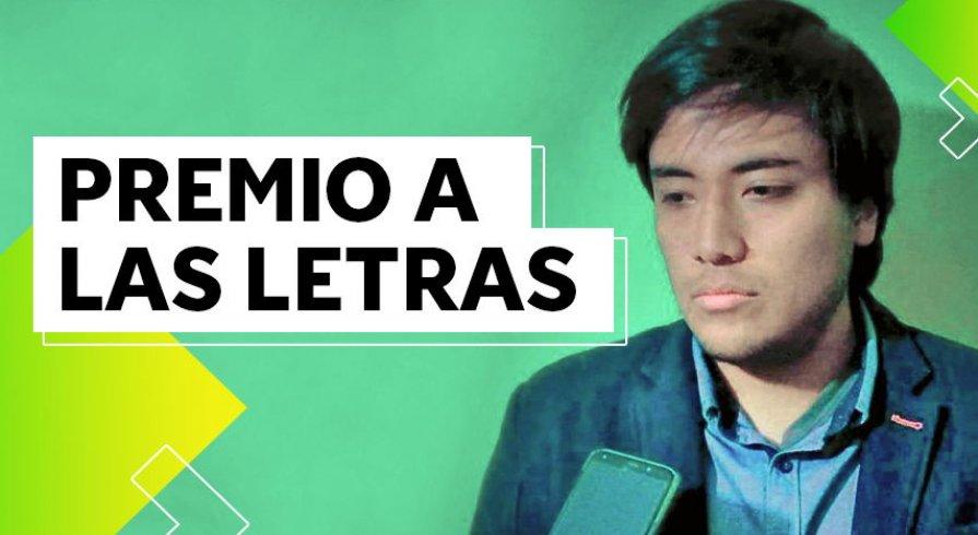 Alonso Paucardi es el ganador del concurso Poeta Joven del Perú