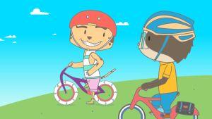 La carrera de bicicletas