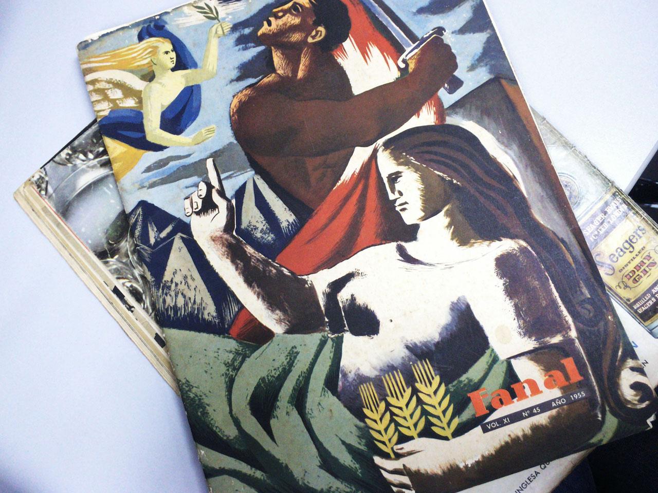"""La revista """"Fanal"""" de los años 50, tiene artículos sobre realidad social, política e historia nacional. Está súper interesante, además de que las portadas son increíbles."""