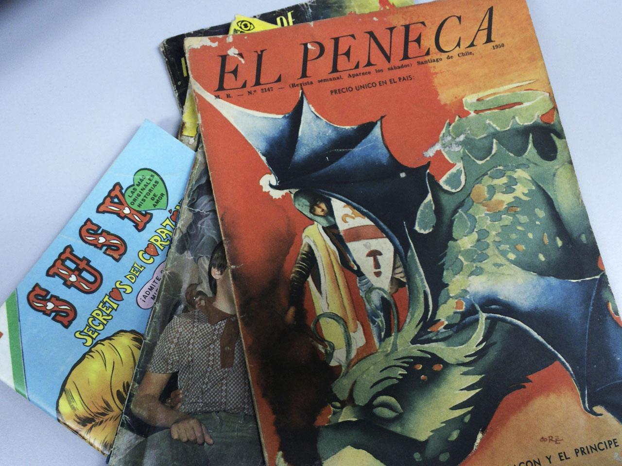"""""""El Peneca"""" fue una revista semanal y en su interior habían cuentos, poesías, concursos y por supuesto historietas."""