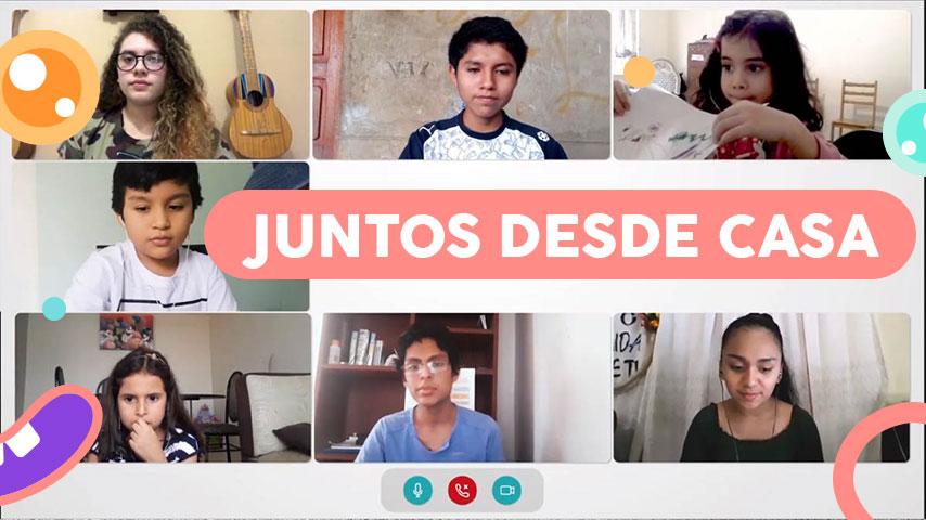 Niños y adolescentes peruanos y venezolanos comparten sus vivencias en cuarentena