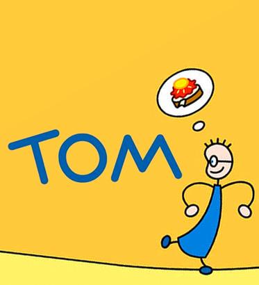 Tom y la rebanada  de pan con mermelada y miel
